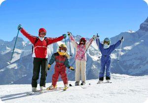 ski famille enfants