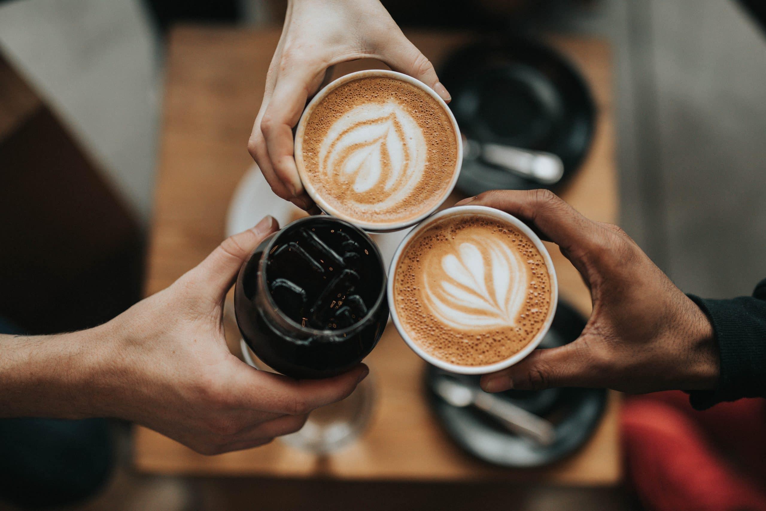 Trois types de café différents