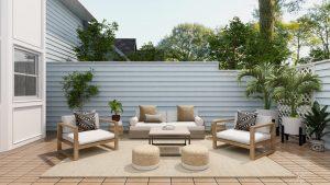 terrasse clôture